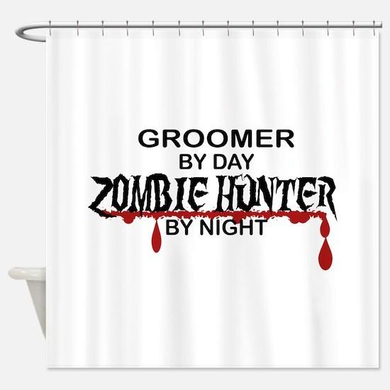 Zombie Hunter - Groomer Shower Curtain