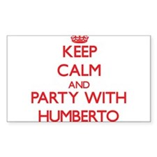 Keep Calm and Party with Humberto Decal