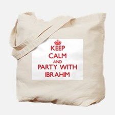 Keep Calm and Party with Ibrahim Tote Bag