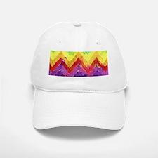 Geometric Zigzag Watercolor Baseball Baseball Cap