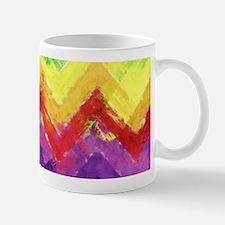 Geometric Zigzag Watercolor Small Small Mug