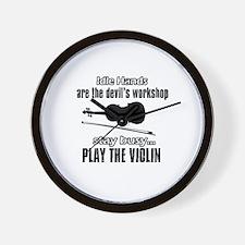 Play the violin Wall Clock