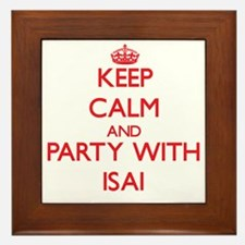 Keep Calm and Party with Isai Framed Tile