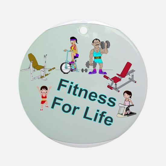 Fitness For Life Ornament (Round)