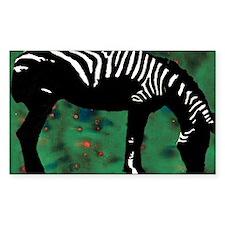 Zebra Rectangle Decal
