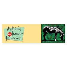 Zebra Bumper Bumper Bumper Sticker