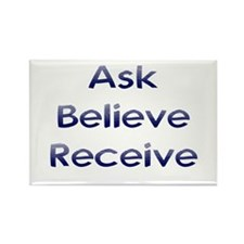 Ask Believe Receive Rectangle Magnet (10 pack)