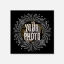 CUSTOM PHOTO Art Deco Starburst Sticker