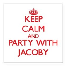 Keep Calm and Party with Jacoby Square Car Magnet