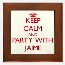 Keep Calm and Party with Jaime Framed Tile