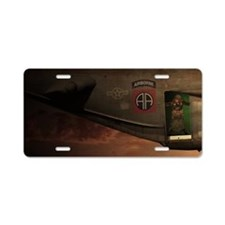 82nd Jumpmaster Aluminum License Plate
