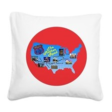 The Mother Road Square Canvas Pillow