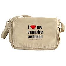 """Love My Vampire Girlfriend"" Messenger Bag"