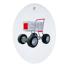 Super shopping cart Ornament (Oval)