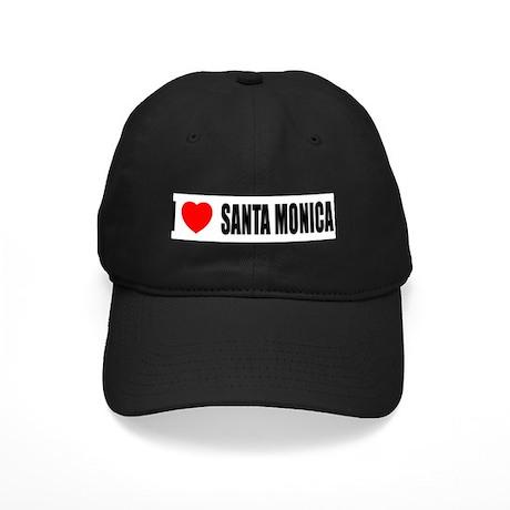 I Love Santa Monica, Californ Black Cap