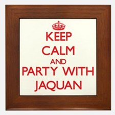 Keep Calm and Party with Jaquan Framed Tile