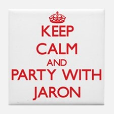 Keep Calm and Party with Jaron Tile Coaster