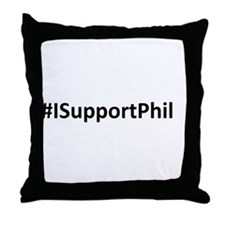 #ISupportPhil Throw Pillow