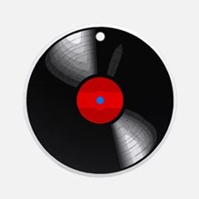 Vinyl Record Round Ornament