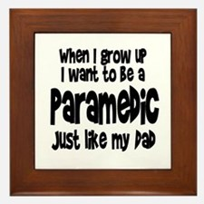 WIGU Paramedic Dad Framed Tile