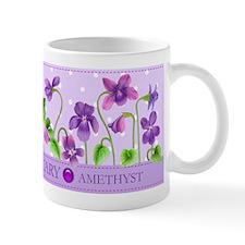 Birth Flowers and Gem Mug February