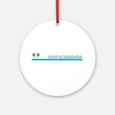 Santa Barbara, California Ornament (Round)
