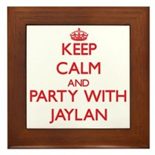 Keep Calm and Party with Jaylan Framed Tile