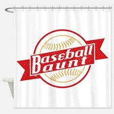 Baseball Aunt Shower Curtain