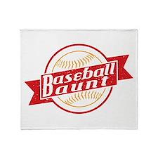 Baseball Aunt Throw Blanket