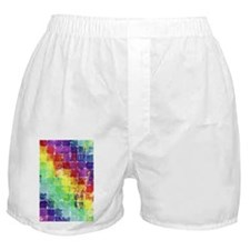 Geometric Squares Watercolor Boxer Shorts