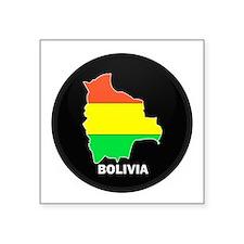 Flag Map of Bolivia Rectangle Sticker