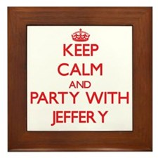 Keep Calm and Party with Jeffery Framed Tile