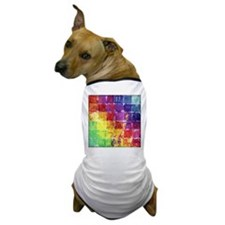 Geometric Squares Watercolor Dog T-Shirt