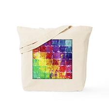 Geometric Squares Watercolor Tote Bag
