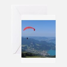Paraglider in Austria Greeting Cards