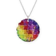 Geometric Squares Watercolor Necklace