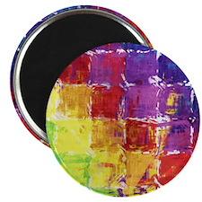 Geometric Squares Watercolor Magnet