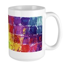 Geometric Squares Watercolor Mug