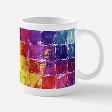 Geometric Squares Watercolor Small Small Mug