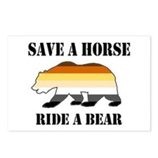 Gay Bear Save A Horse Ride A Bear Postcards (Packa