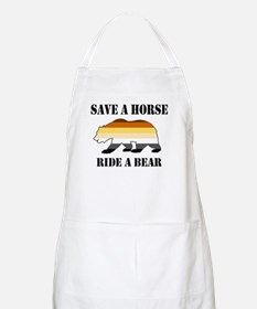 Gay Bear Save a Horse Ride a Bear Apron