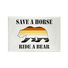 Gay Bear Save a Horse Ride a Bear Magnets