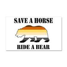 Gay Bear Save a Horse Ride a Bear Car Magnet 20 x