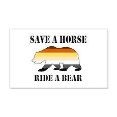 Gay Bear Save a Horse Ride a Bear Wall Decal