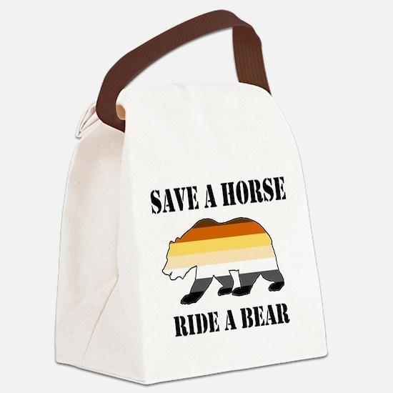 Gay Bear Save a Horse Ride a Bear Canvas Lunch Bag