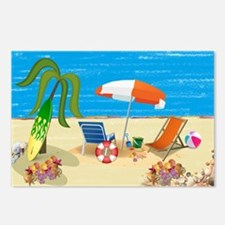 Summer Beach Fun Postcards (Package of 8)