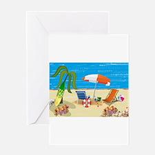 Summer Beach Fun Greeting Cards