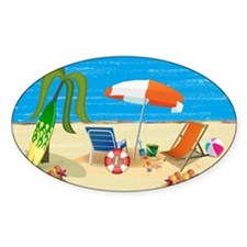 Summer Beach Fun Decal