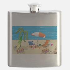 Summer Beach Fun Flask