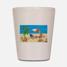 Summer Beach Fun Shot Glass